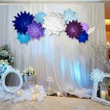 Paper Flower Wedding Backdrops Details About Diy Paper Flowers Backdrop Decor Kid Birthday Party Wedding Favor Decor Bl3