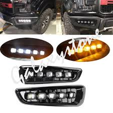 Ford F150 Running Lights Us 117 41 22 Off Led Drl Daytime Running Light Fog Light Lamp For Ford F150 Raptor 2017 2018 Yellow In Signal Lamp From Automobiles Motorcycles On