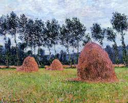 claude monet haystacks overcast day 1884