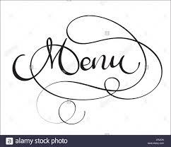 The Word Menu Menu Vector Word On White Background Hand Drawn Vintage
