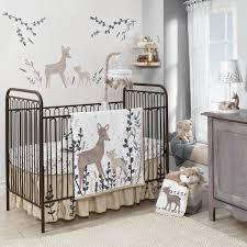 lambs ivy meadow 3 piece crib bedding set cream brown white