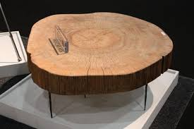 unfinished round wood coffee table