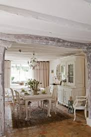 french country dining room furniture. Dining Room: Tranquil French Country With Painted Barn Wood Detail Coupled Brick Tile Floor And Classic Table Chair Also Chandelier: Room Furniture C