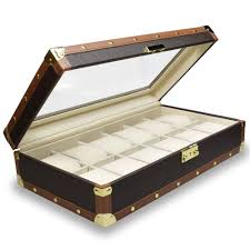 Ikee Design Watch Box Amazon Com Ikee Design Leatherette Watch Box For 12 Watches