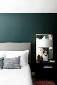 wall color for black furniture. minimalist bedroom with dark green walls gorgeous paint color is crisp romaine by wall for black furniture