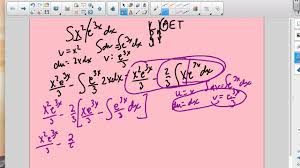 Integration By Parts Chart Youtube