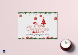 Santa Christmas Greeting Card Template