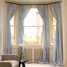 Curtain:Hanging Curtains On Bay Windowhanging In Window Windowcurtains For  97 Sensational Curtains In Bay