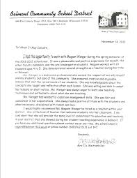 Letters For A Teacher Sample Teacher Of The Year Recommendation Letter Samples