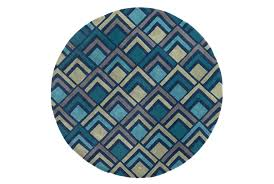 home interior focus navy blue round rug nuloom trellis 8 ft x area mtvs27d 808r