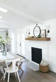 white brick fireplace makeover painting the mantel decor