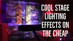 diy lighting effects. Cool Stage Lighting Effects On The Cheap Diy
