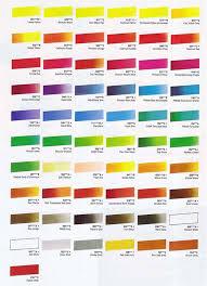 Titanium Temperature Color Chart Cryla Acrylics Hints And Tips Colour Charts
