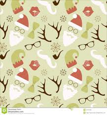 vintage christmas pattern. Simple Christmas Christmas Hipster Retro Seamless Pattern With Vintage R
