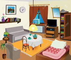 living room furniture clipart. messy living room furniture clipart