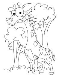 Printable Coloring Pages coloring page giraffe : Free Printable Funny Coloring Pages For Kids