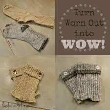just add a few ons and sew up the bottom edge to make fabulous boot cuffs these would make a really inexpensive last minute