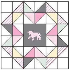 52 best Free Quilt Block Patterns images on Pinterest | Quilt ... & GRAY UNICORN Free patchwork quilt block pattern Designed by AFG STUDIO  Featured in the January/ Adamdwight.com