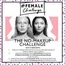 and what a perfect challenge this is we started the year with our big makeover challenge and now we re ending it with a no makeup challenge