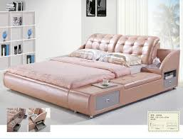 china modern leather bed with shelf bedroom furniture h809 china leather bed bedroom set