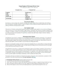 Employment Employee Performance Review Form Free Template Word Doc ...