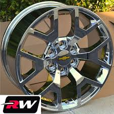 2014 GMC Sierra Wheels Rims Chrome 20 inch 20x9 Chevy Silverado ...