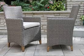 tna2222 driftwood grey wicker teak dining chair with sunbrella cushion