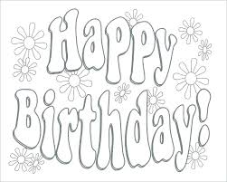 Print A Happy Birthday Card Coloring Pages For Happy Birthday Print