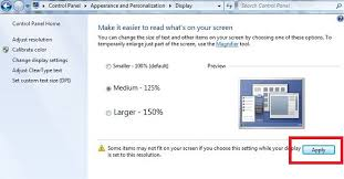 how to change text size how to change font size in windows 7 desktop