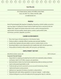 Senior Financial Analyst Resume Sample Resume Examples Financial Analyst Financial Analyst Resume Example