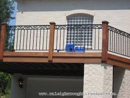 deck wrought iron table. Atlanta GA Custom Wrought Iron Railings Raleigh Co For Deck Railing Ideas 8 Table