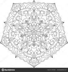 Zwart Wit Mandala Kleurplaat Stockvector Sagmariya 157423228