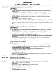 Construction Safety Ficer Sample Resume Template For Construction