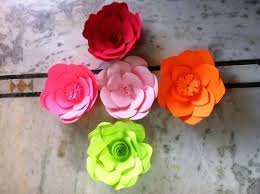 Paper Flower Designs Handmade Paper Flowers Various Colors Designs Sizes