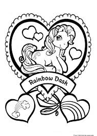 Print Out My Little Pony Rainbow Dash Coloring Pages Free