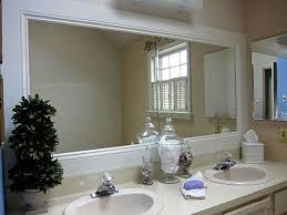 trim around bathroom mirror. Bathroom Mirror White Frame Trim Around