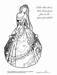 Small Picture Little Girl In A Dress Coloring Page Useful As Coloring Book For