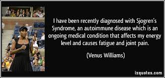 Image result for venus williams sjogrens