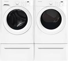 Washer And Dryer Dimensions Front Loading Frigidaire Fffw5000qw 27 Inch Front Load Washer With Antimicrobial