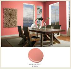 The color of the month is Guava! Guava tones are a match made in heaven  with modern furnishings and brightly lit rooms. The featured Behr paint  color in ...