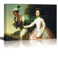 com dido elizabeth belle by johann zoffany canvas print wall art famous painting reion 12 x 18 posters prints