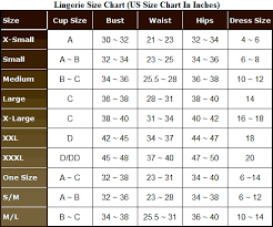 Size Chart For Sensual Mystique Chinese Jacquard Strapless