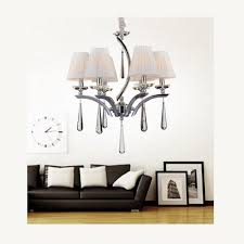 cwi lighting alice 6 light chrome chandelier with white shade