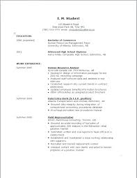 Sample College Resumes For High School Seniors High School Resume