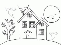 Coloring Pages Haunted House Coloring Page Tremendous Templates