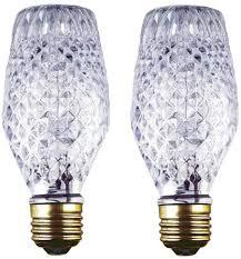 Cut Light Bulb Ciata Lighting 43 Watt Sl19 Halogen Cut Glass Light Bulb With Medium Base 2 Pack