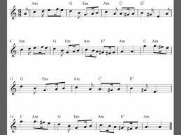 Greensleeves Free Flute Sheet Music Score Youtube