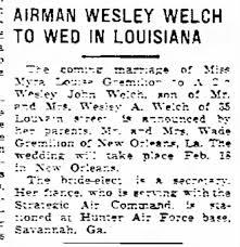 Wesley J Welch marriage - Newspapers.com