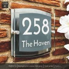 house acrylic number plaque