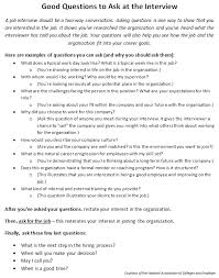 Good Questions To Ask Interview Preparing For An Interview Shawnee State University